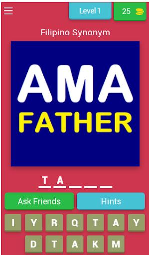 Filipino Synonym Game (Learn Filipino Words) 8.2.1z screenshots 1