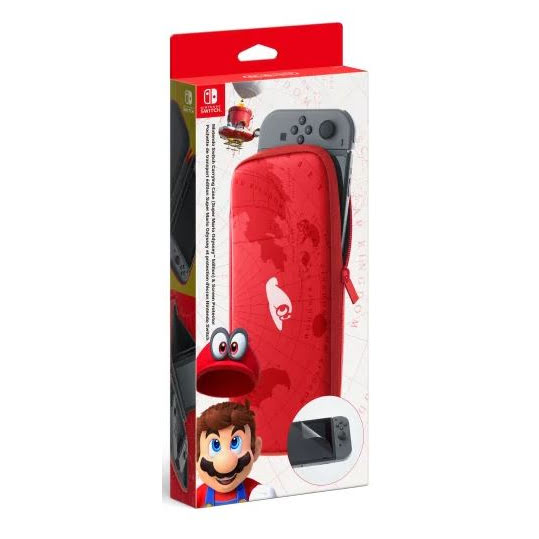 Nintendo Switch Case Odyssey Edition and Screen Protector Röd