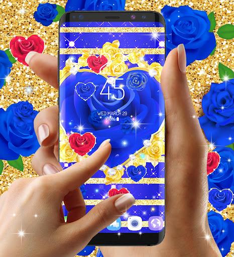 Blue golden rose live wallpaper 8.1.1 screenshots 5