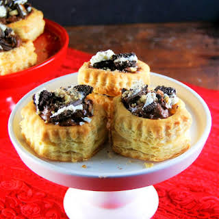 Chocolate Mousse and Oreo Stuffed Puff Pastry Shells.