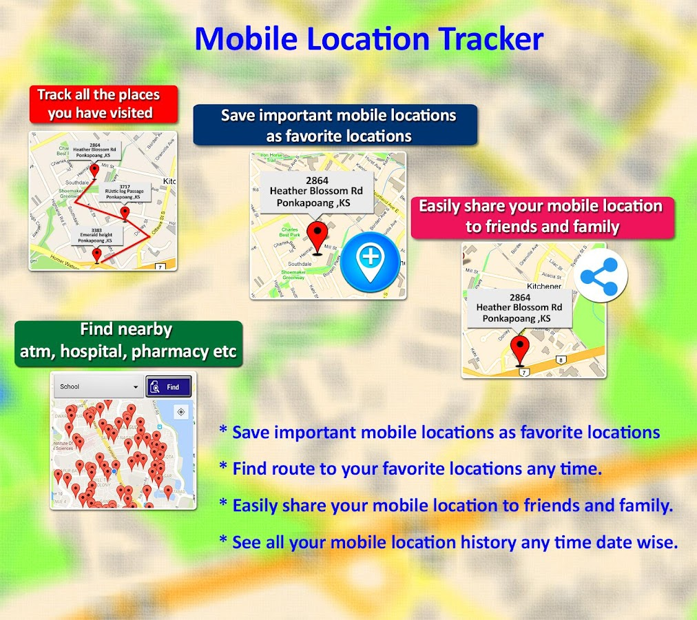 Mobile Location Tracker- screenshot