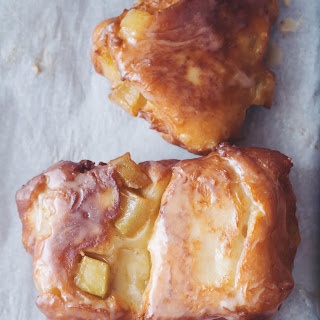 Maple Glazed Apple Fritters
