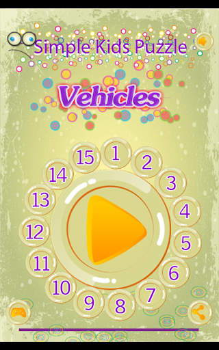 Simple Kids Puzzle - Vehicles