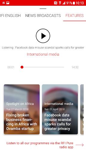 RFI - Radio France Internationale,  live news 3.3.9 Screenshots 2