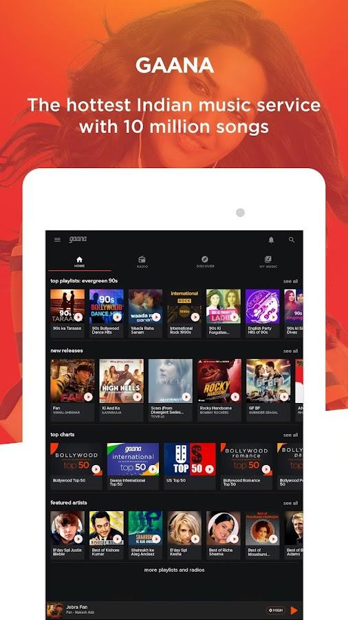 Gaana: Bollywood & Hindi Songs APK Cracked Free Download