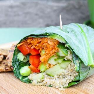Alkaline Wheat Free Quinoa & Hummus Wraps