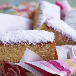 Coconut Jam Sponge Cake.