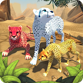 Gepard Familie Sim icon