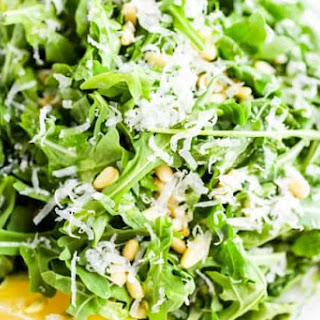 Simple Arugula Salad with Sunflower Seeds and Parmesan Recipe