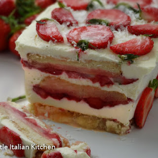 Strawberries and Cream Semifreddo Recipe