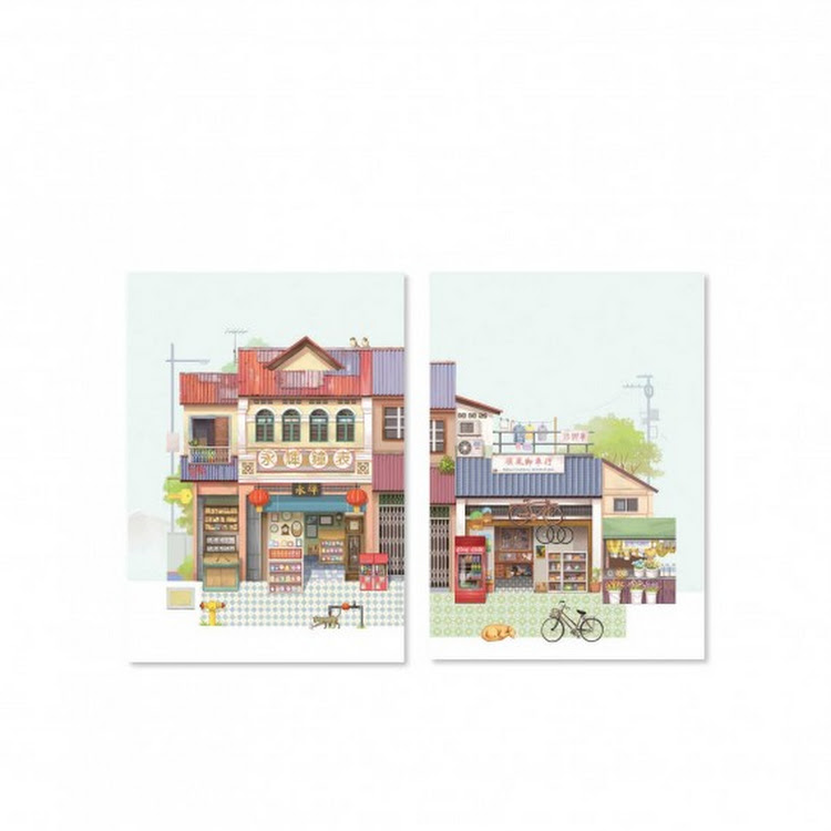 Pop Up Postcard :Mechanic Shop by Loka Made