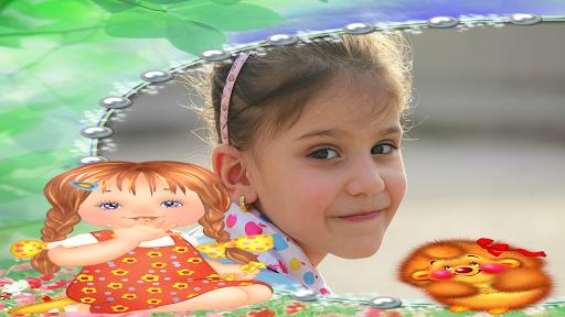 children photo frames montage