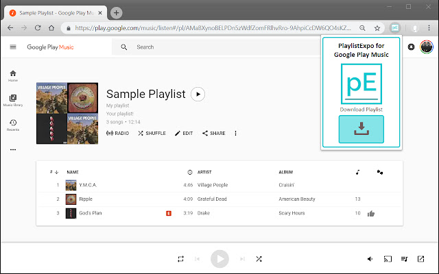 playlistExpo for Google Play Music