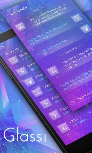 FREE GO SMS GLASS III THEME