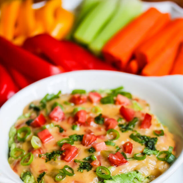 Skinny Queso Cheese Guacamole Dip Recipe | Yummly