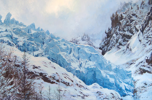 Ice Wave. oil on canvas, 55x86cm