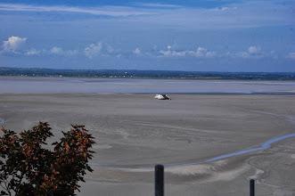 Photo: BRETANYA 2013. MONT SAINT-MICHEL (Normandia ).Entrada d'aigua a la badia
