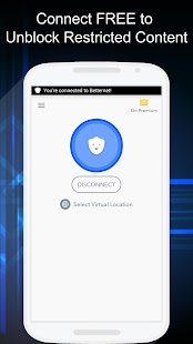 Free VPN - Betternet VPN Proxy & Wi-Fi Security Screenshot