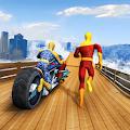 Moto Spider vs Speed Hero Mega Ramp Stunt Games