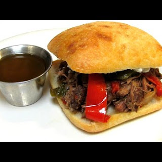 Pulled Beef Sandwich - PEPPER STOUT BEEF Recipe - Crock Pot Version Recipe