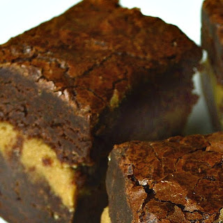 Chocolate Fudge Brownies with Cookie Dough Filling.
