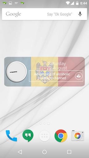 Moldova Clock RSS Widget