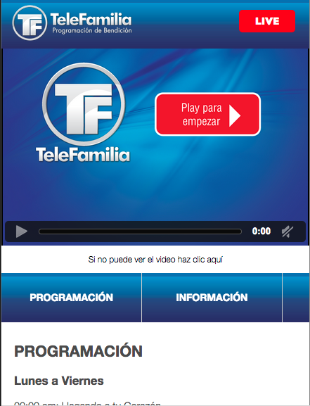 Canal Telefamilia- screenshot