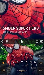 Spider Super Hero Keyboard Theme - náhled