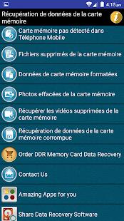 recuperer fichier supprimé carte sd Récupération de données de la carte mémoire Help – Apps bei Google