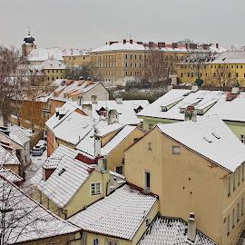 Pocukrované largo by Miloš Stanko - Buildings & Architecture Public & Historical ( sníh, praha, nový svět, zima, hradčany )