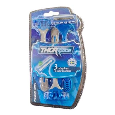 máquina afeitar thor razor blister 3 und