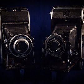 Cameras by Andrew Lancaster - Artistic Objects Technology Objects ( picture, old, blue, rapide, camera, zeiss, coronet, ikon, lens, antique, photography,  )