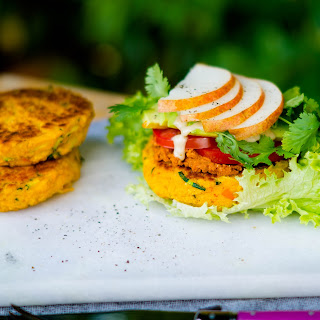 Pumpkin Millet Burger; Say hello to autumn.