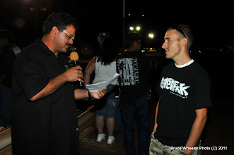 Photo: Scott and an unidetified contest winner...
