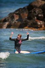 Photo: Cheering her success.