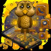 3D Starry Night Owl Launcher Theme