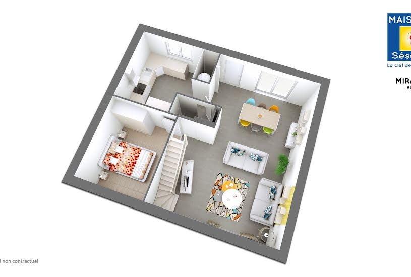 Vente Terrain + Maison - Terrain : 300m² - Maison : 90m² à Méry-sur-Oise (95540)