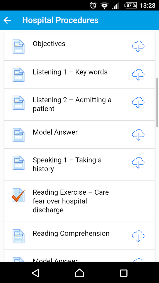 HELP - English for Healthcare- screenshot