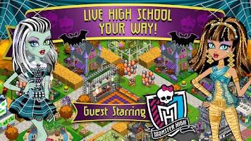 Screenshot of High School Story+Monster High