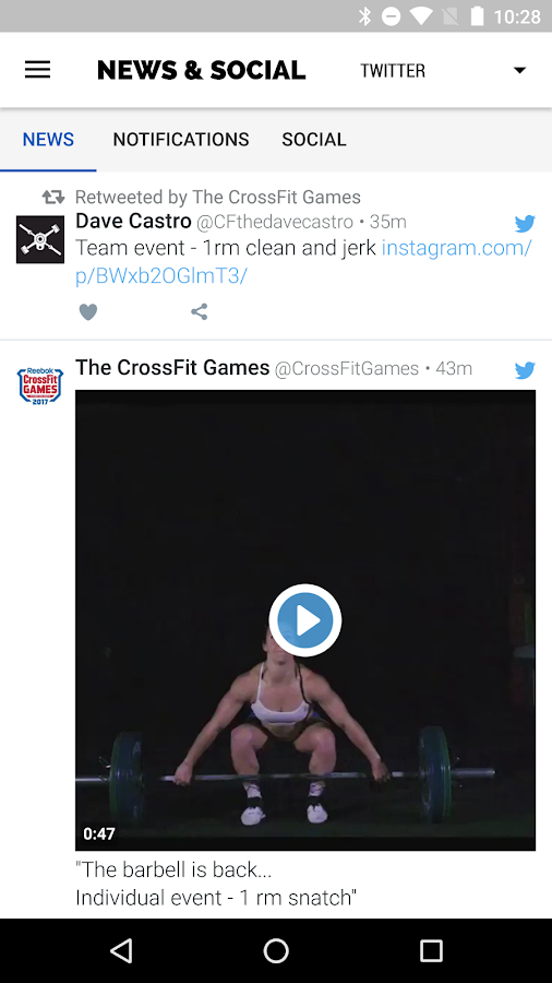 2017 Reebok CrossFit Games- screenshot