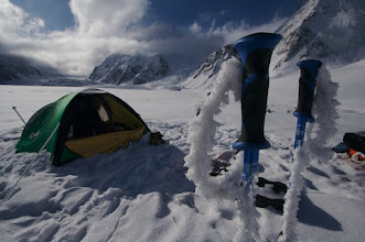 Photo: 6th of June. Camp on Ogilvie Glacier.2100 m.