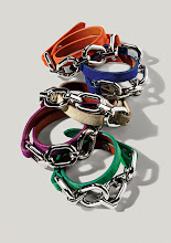 Photo: RALPH LAUREN Italian kid suede double-wrap chain bracelets in orange, bright royal, camel, fuchsia or bright green. $195. Also available in turquoise or citron. Imported. Sixth Floor. 212 872 2610