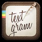 Textgram - write on photos icon