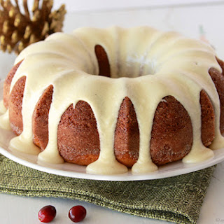 Egg Nog Bundt Cake with Egg Nog Frosting