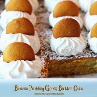 Banana Pudding Gooey Butter Cake.