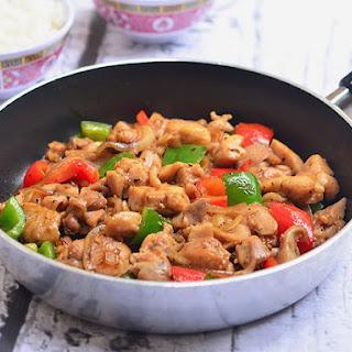 Black Pepper Chicken.