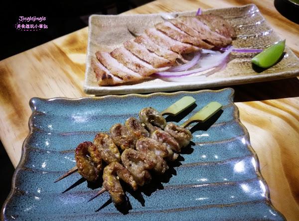 鳥重地雞燒バーベキュー。國宴雞為主軸的串燒,激推豬五花、松阪豬,唐揚雞、小手羽~有包廂適合多人用餐!
