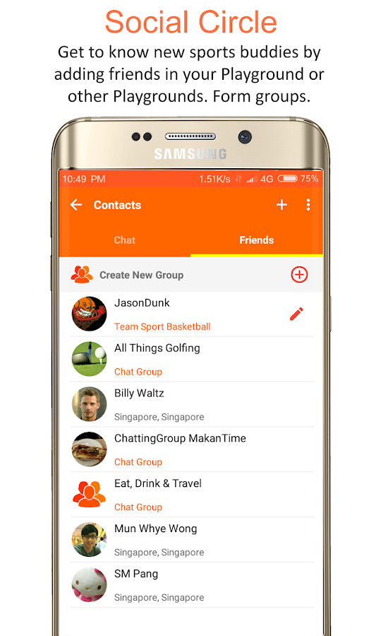PassionLeague: Social Sports League (Social Media)- screenshot