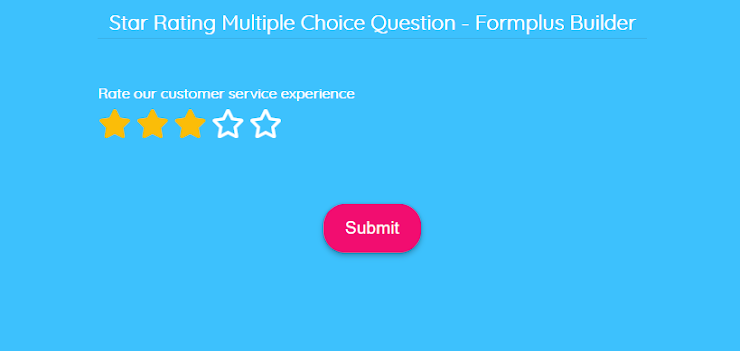 star-rating-multiple-choice-question
