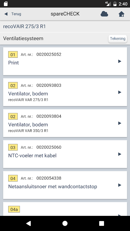 Vaillant spareCHECK NL: screenshot